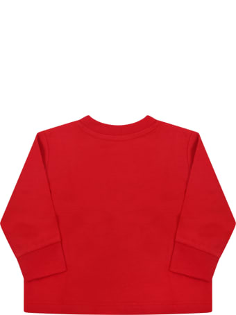 Ralph Lauren Red T-shirt For Baby Kids With Pony Logo