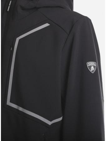 Automobili Lamborghini Technical Fabric Jacket With Contrasting Inserts