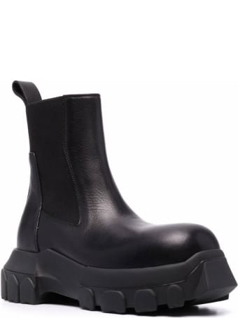 Rick Owens Chunky Black Leather Boots