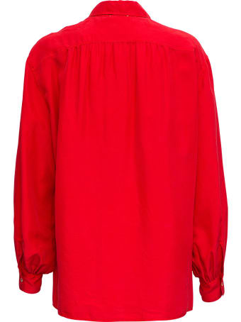 Forte_Forte Hobotai Red Silk Shirt