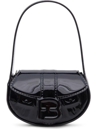 Forbitches High Frequency Laminate Handbag In Black Patent Leather