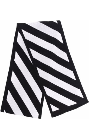 Off-White Black And White Cotton Arrows Scarf