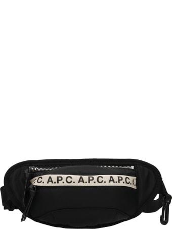 A.P.C. Repeat Waist Bag In Black Polyamide