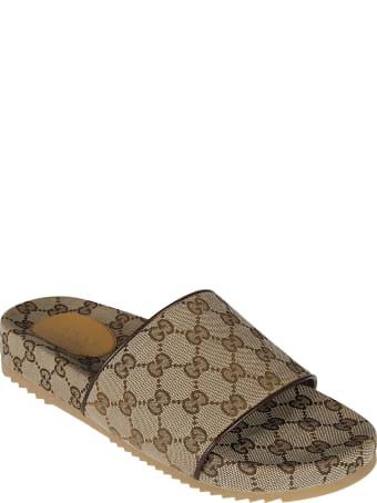 Gucci Logo Motif Sliders