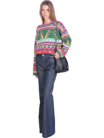 Stella McCartney The 70 Flare Jeans In Blue Denim