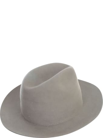 Super Duper Hats Drop Crown Raw Brim Nat Stone Stitch Detail