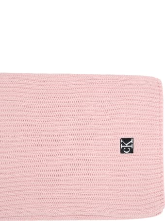Calvin Klein Pink Scarf For Girl With Logo