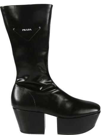 Prada High Platform Boots