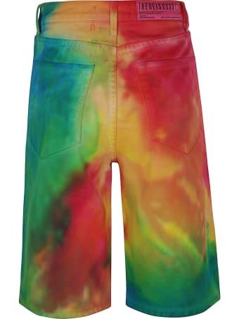 IRENEISGOOD Rainbow Denim Shorts