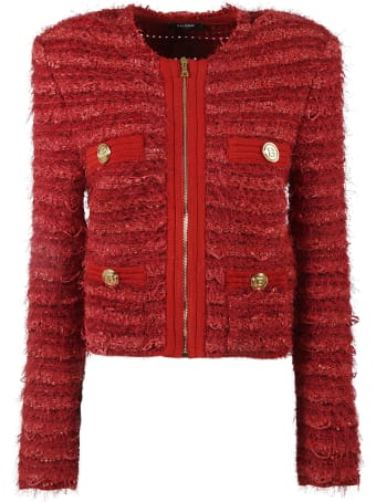 Balmain Tweed Zip Jacket