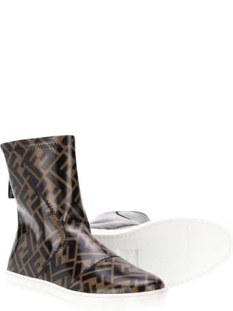 Fendi Brown Ankle Boots