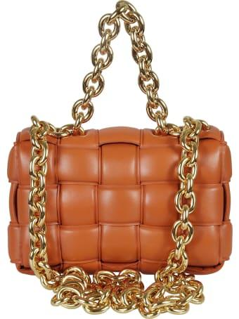 Bottega Veneta Woven Cassette Chain Shoulder Bag