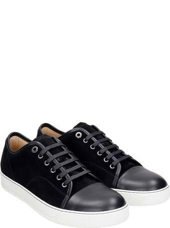 Lanvin Dbb1 Sneakers In Black Suede