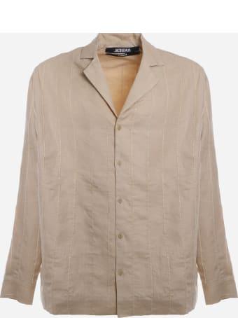 Jacquemus Shirt La Chemise Raphia In Linen