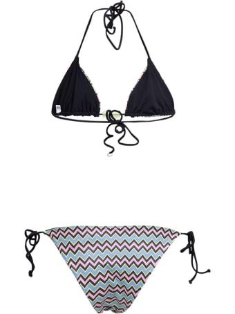 M Missoni Geometric Printed Bikini In Synthetic Jersey