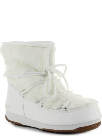 Moon Boot Monaco Low Fur Wp White Snow Boot