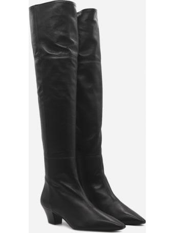 Aquazzura Gainsbourg 45 Boots In Leather