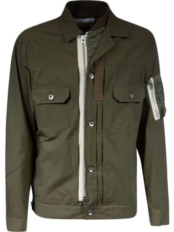 Sacai Button-zipped Jacket