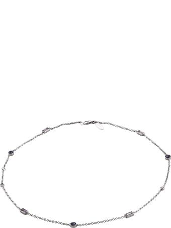 Lo Spazio Jewelry Lo Spazio Blue , Pink Sapphire and Diamond Necklace