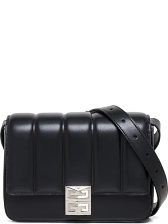 Givenchy 4g Black Quilted Leather Crossbody Bag