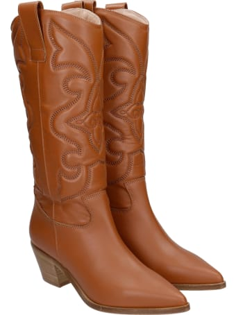 Alchimia Texan Boots In Leather Color Leather