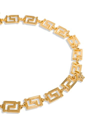 Versace Greca Necklace In Gold-colored Metal
