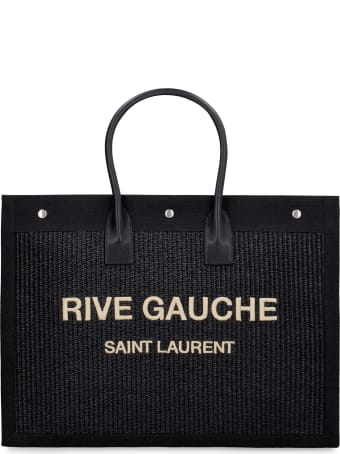 Saint Laurent Woven Straw Tote