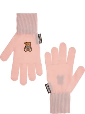 Moschino Teddy Gloves