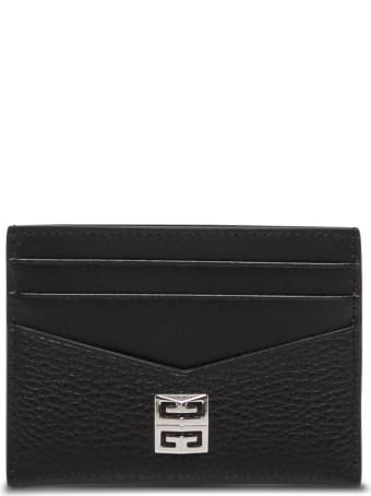 Givenchy Black Leather Card Holder With Logo