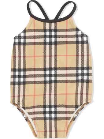Burberry Check-print Swimsuit