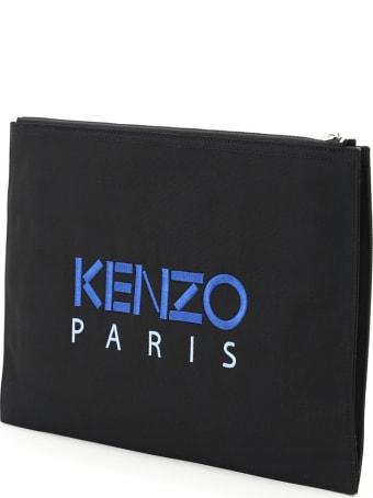 Kenzo Document Clutch Tiger