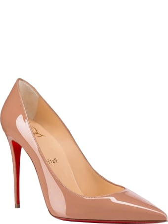 Christian Louboutin Nude Patent Kate 100 Pumps