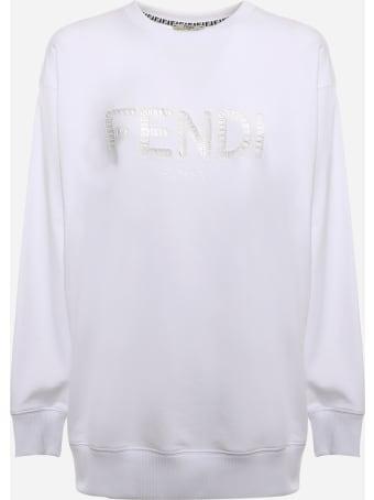 Fendi Cotton Sweatshirt With Embroidered Logo