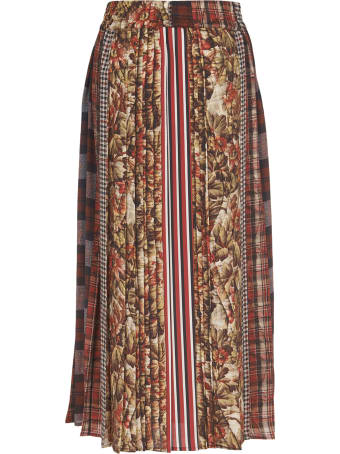 Pierre-Louis Mascia Patchwork Patterns Skirt