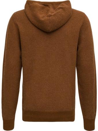 Aspesi Brown Wool Hoodie
