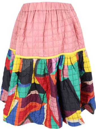 Tia Cibani Multicolor Skirt For Girl