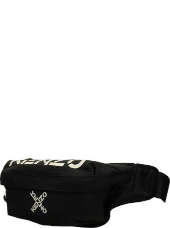 Kenzo Waist Bag In Black Nylon