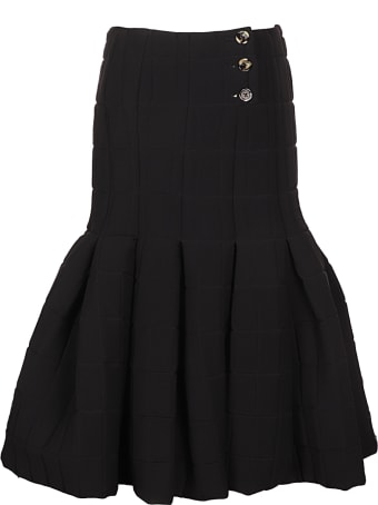 A.W.A.K.E. Mode Quilted Pleated Midi Skirt