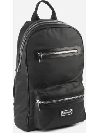 Les Hommes Nylon Backpack With Metal Logo Detail