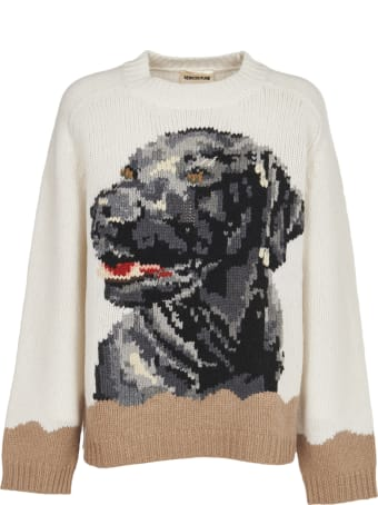 SEMICOUTURE Sweater With Labrador Inlay