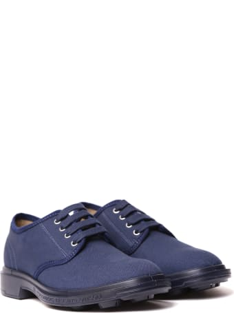 Pezzol 1951 Navy Canvas Derby Shoes