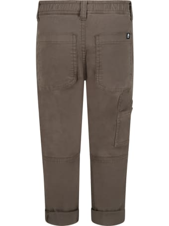 Timberland Green Trousers For Boy With Black Logo