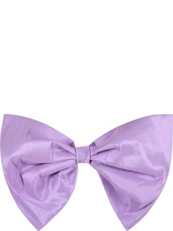 Caroline Bosmans Lilac Belt For Girl With Bow