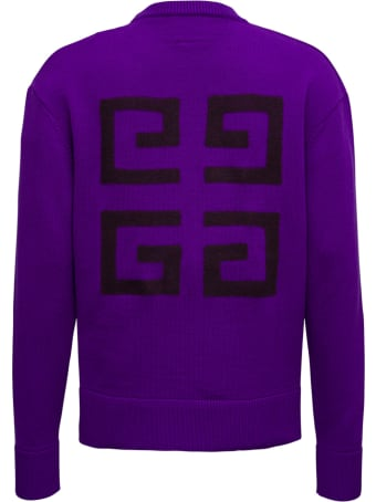 Givenchy Purple Merino Wool Sweater With Logo