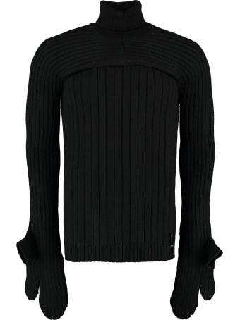 Fendi Ribbed Wool Turtleneck Sweater