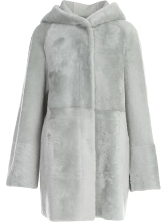DRM Hooded Shearling Coat