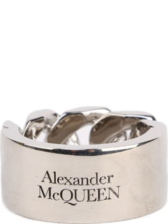 Alexander McQueen Identity Chain Antique Ring