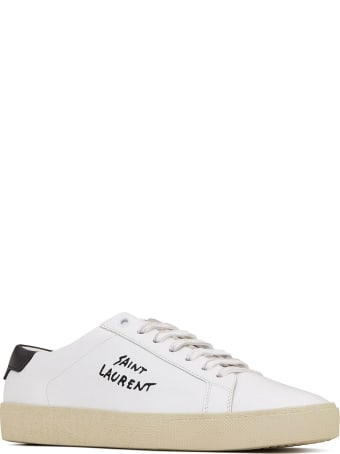 Saint Laurent Court Sneakers In Leather