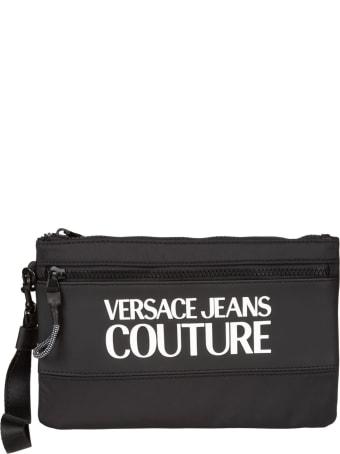 Versace Jeans Couture Logo Print Front Pocket Clutch