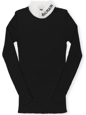 Balmain Logo Turtleneck Sweater